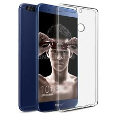 Clear Slim GEL Case & Glass Screen Protector for Huawei Honor 7x