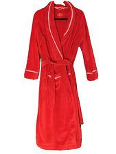 Victoria's Secret Red Plush Long Bathrobe Medium