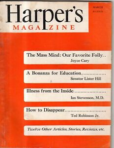 1949 Harpers March - how to disappear; Invention of the transistor; Max Steele
