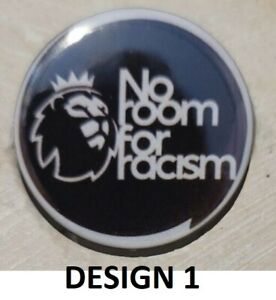 No Room For Racism P League pin badge 25mm from 89p 10%to st Ann's hospice
