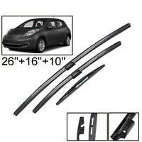 Front Rear Wiper Blades Set For Nissan Leaf 2010 2011 2012 2013 2014 2015 2016