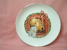"Vintage 1982 Santa Christmas Plate Porcelain 22k Gold Trim Japan 6.5"" Jasco"