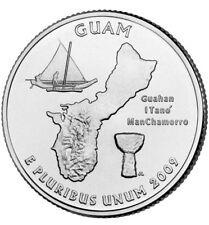 2009 D GUAM Territorial Quarter BU from original bank bags