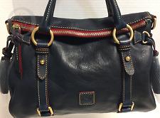 *Dooney & Bourke*NAVY *Small*Florentine Leather*Satchel*Shoulder Bag#17034A