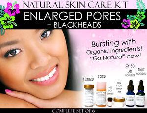 Natural Skin Care Kit For Blackheads Pore Minimizing and Nose Shrinking Set of 6