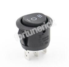 Wippschalter rund 1-polig, EIN/AUS/EIN 3 pin Schalter