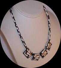 Vintage Australian Petrified Peanut Wood Bead Necklace.