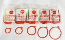10 Replacement Rubber Seals For WECK Jars - Rings/Gaskets/Washers/Einkochringe