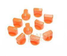 10 Pcs Guitar AMP Effect Pedal Knobs Davies 1510 Style Pointer Knob Orange