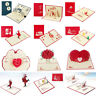 3D Greeting Cards Father's Day Birthday Wedding Anniversary Invitations Pop Up