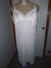 Vanity Fair White Full Slip Chemise Petticoat Sz 40