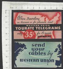 USA Western Union TELEGRAM SERVICE advertisement labels MH (2)
