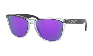 Oakley FROGSKINS 35TH Sunglasses OO9444-0557 Polished Clear W/ PRIZM Violet Lens