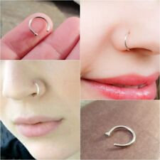 22g Thin Silver Nose Ring Hoop Extra Small 0.6mm Thin Cartilage Earring Hoop