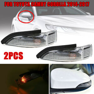 2Pc/Set Car Side Mirror Turn Signal Light Lamps for Toyota Camry Corolla 2014-18