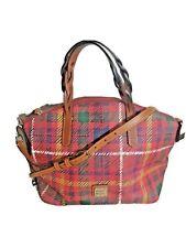 Dooney Bourke Bag  Red Tartan Plaid Celeste Crossbody Large Satchel Pvc 9x15!