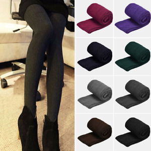 Womens Ladies Woolly Knitted Stretch Tights Pantyhose Warm Soft Stretch Stocking