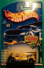 HOT WHEELS 2002 COLD BLOODED SERIES VULTURE CHINA SILVER 5 SPOKE #077 YELLOW