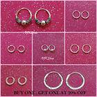 925 sterling silver hoop Earrings 8mm,10mm,12mm,18 mm Small Large Sleepers Gift