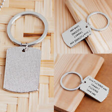 Cute Gift for HIM HER Key Ring Chain Dog Tag for Men Women Girlfriend I LOVE YOU