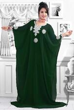 Women's Dubai Farasha Kaftan Caftan Jilbab Party Maxi Beach Dress Bellydance - S