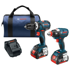 Bosch CLPK251-181 18V  Li-Ion EC Brushless Impact Driver & Drill Kit 4.0 Ah NEW