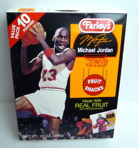 Michael Jordan Chicago Bulls Farley's Fruit Snacks Box Empty 1990's Vintage