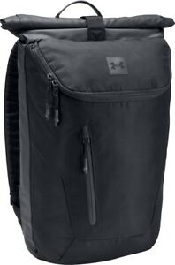 Under Armour Sportstyle Roll Top Backpack - Black