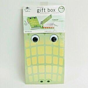 "Kids Birthday Gift Box Green Crocodile Mouth Opens Box 6.25"" x 8.75"" x 2.25"""