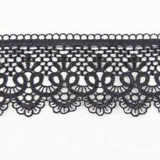Beautiful 3 Yards Black Embroidery Lace Trim Sewing Applique DIY Dress Decor