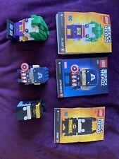 3 Lego Brick Headz The Joker. Captain America And Batman Pre Loved