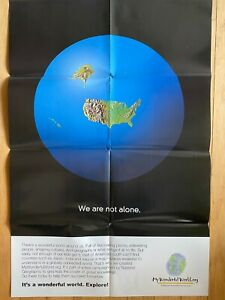 We Are Not Alone National Geographic Color Poster 22 X 32 1/2 NEW Education