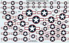 Experts Choice 1/72 Ee.uu. Nacional Insignia Star y Barra 1943 Rojo Reborde