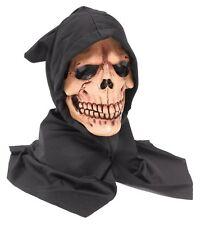 Adult Skull Overhead Hooded  Mask Grim Reaper Zombie Horror Halloween Scary Mask