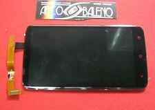 DISPLAY +VETRO TOUCH SCREEN ORIGINALE PER HTC ONE X + PLUS NERO RICAMBIO VETRINO