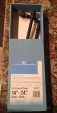 """GRABER FRENCH DOOR SWING ARM ROD SYSTEM 14"""" TO 24"""" WIDE NEW IN BOX Acorn Black ¥"""