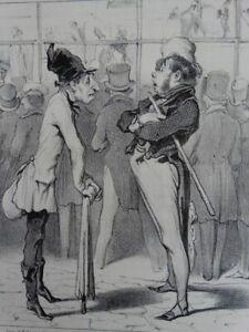 Robert Macaire Bildhändler - Lithographie Daumier Aubert - Satire Humor - 1839