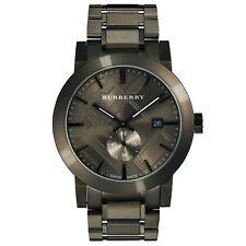 Burberry Men's chronograph watch gunmetal strap BU9902 with Swiss movement