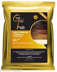 Hair Thickening Fibres   Hair Loss & Balding   Natural Keratin   Light Brown 50g