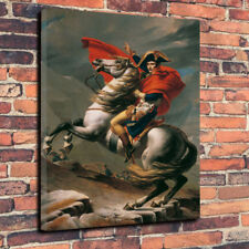 "Battle of Waterloo Napoleon Art Printed Box Canvas Picture A1.30""x20""30mm Deep"