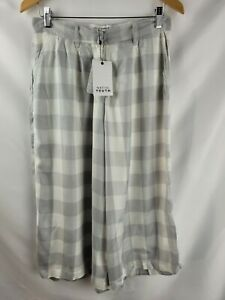 Native Youth White Grey Checked Loose Pants Size S