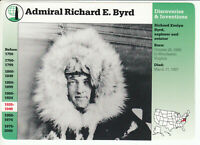 ADMIRAL RICHARD E. BYRD Explorer North Pole 1995 GROLIER STORY OF AMERICA CARD