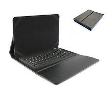 Universal Tasche Case mit Bluetooth Tastatur für 9 - 10 Zoll Tablet PC | Schwarz