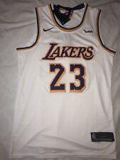 NEW! WHITE LEBRON JAMES (Nike) LA LAKERS Swingman Mens NBA Jersey Size M(48)