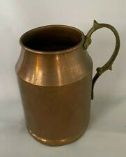 "Vintage 7-1/8""h Hand Made In Turkey Solid Copper & Brass Tankard/Stein/Mug"
