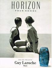PUBLICITE ADVERTISING 045  1993   GUY LAROCHE   eau de toilette homme HORIZON