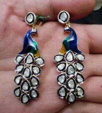 Victorian/Antique Look 1.90Ct Rose Cut Diamond .925 Silver Earring