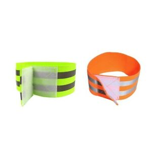 REFLECTIVE FLUORESCENT ARM BANDS RUNNING JOGGING CYCLING WALKING High Quality