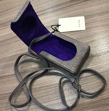 Paul Smith LEICA CAMERA CASE / Shoulder Bag Grey Mock Croc Leather