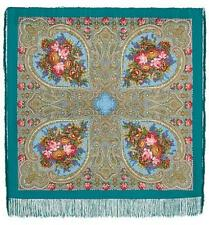 Pawlow Posad/Pavlovo Posad russischer Schal-Tuch Tradition125x125 Wolle 1471-11